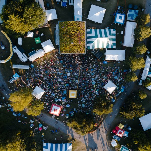Overhead shot of main stage