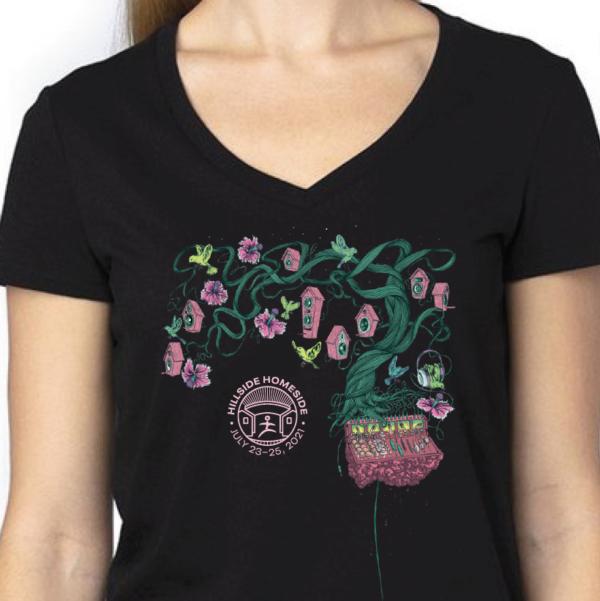 Women's v-neck black t-shirt