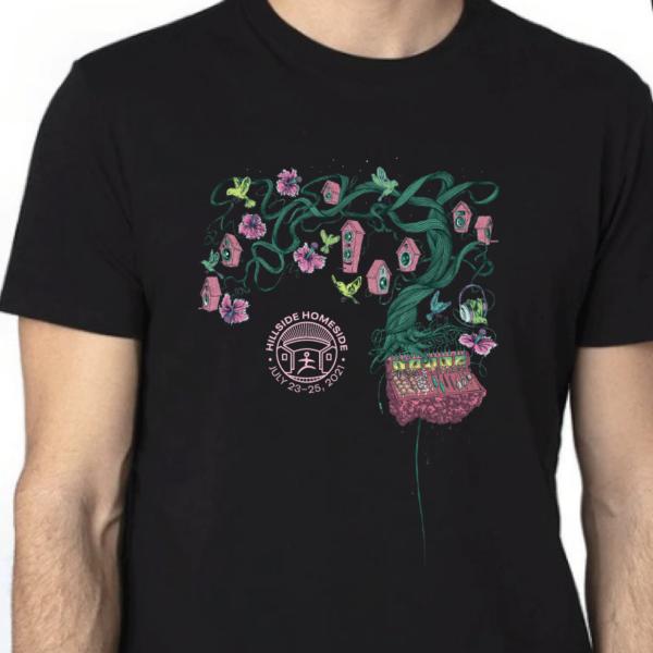 Homeside 2021 t-shirt, black unisex